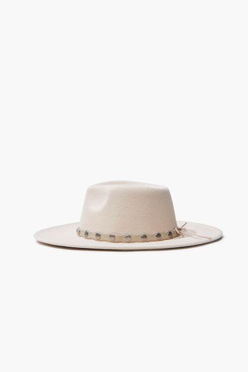 Studded-Trim Felt Panama Hat, image 2