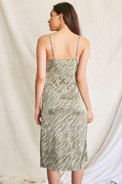 GREEN/MULTI Tiger Print Slip Dress, image 3