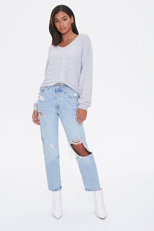 Fuzzy Knit Drop-Shoulder Sweater, image 4