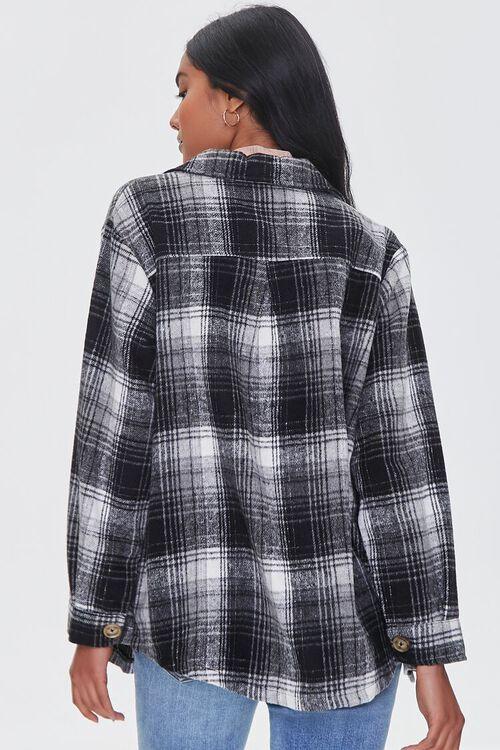 BLACK/MULTI Brushed Plaid Pocket Shacket, image 3