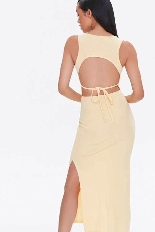 Self-Tie Cutout Midi Dress, image 3