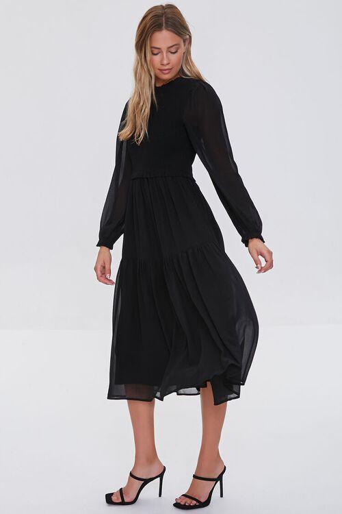 Smocked Peasant-Sleeve Dress, image 4