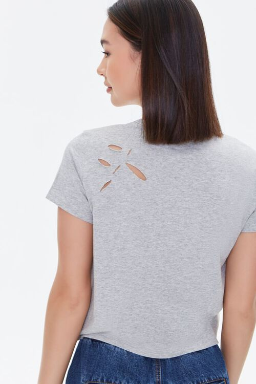 Distressed Cotton-Blend Tee, image 4