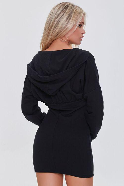 BLACK Zip-Up Hoodie Dress, image 3