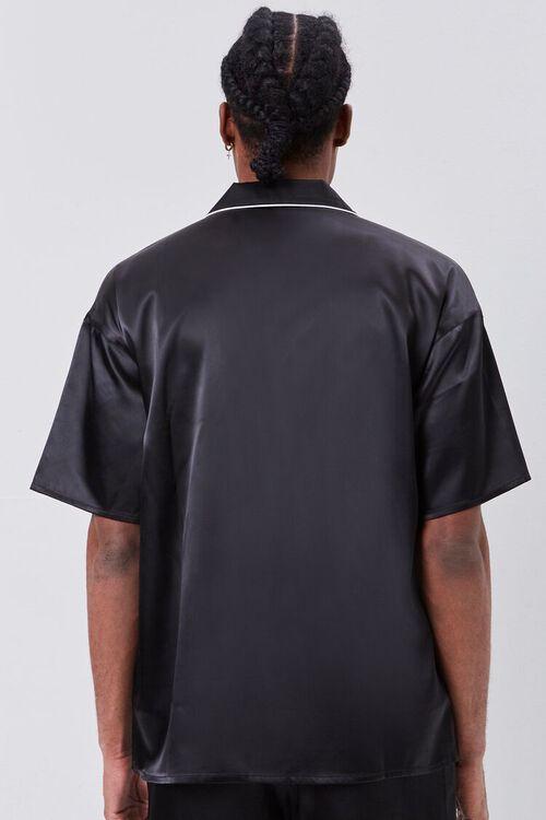 Satin Piped-Trim Shirt, image 3