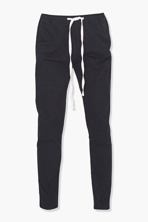 Drawstring Ankle-Zip Skinny Pants, image 1
