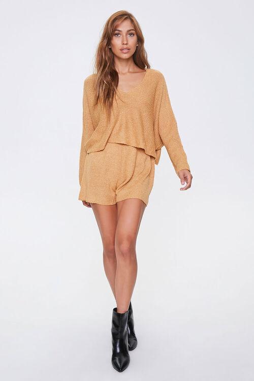 Boucle Knit Sweater & Shorts Set, image 4