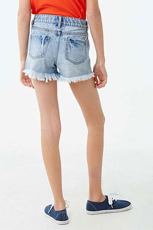 Girls Distressed Denim Shorts (Kids), image 3
