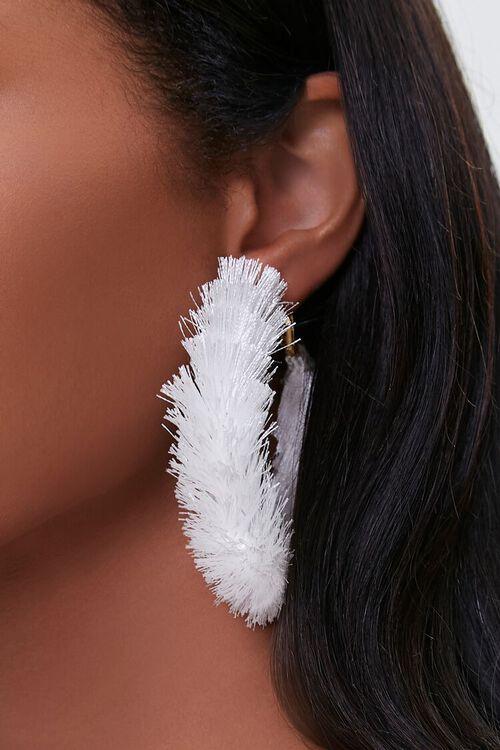 Fringe Hoop Earrings, image 1