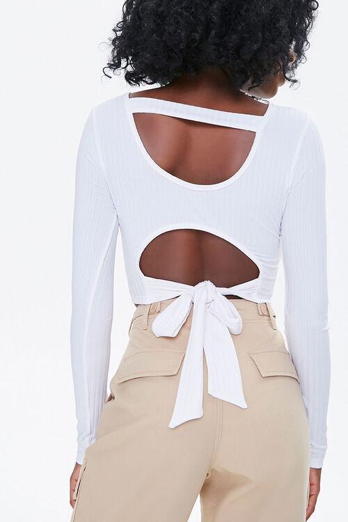 Tie-Back Cutout Crop Top, image 3