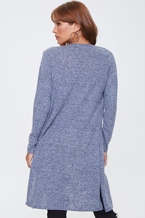 Heathered Open-Front Cardigan, image 3