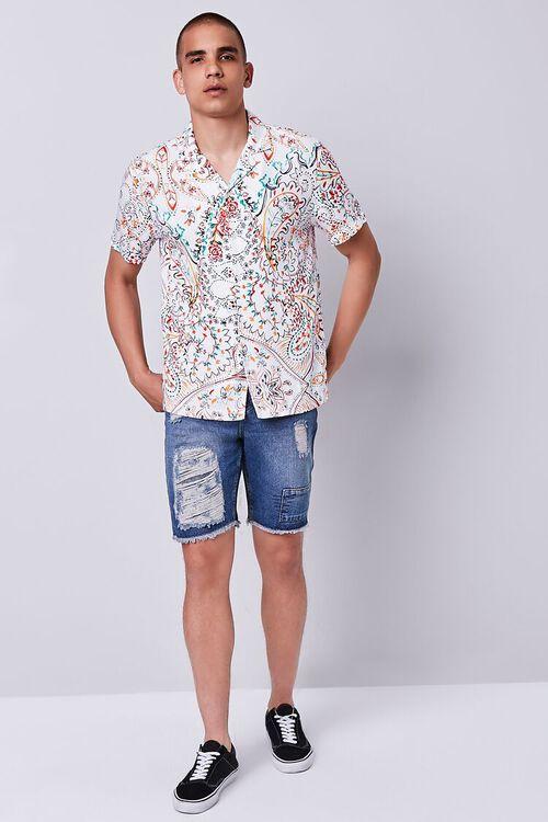 Distressed Frayed Denim Shorts, image 5