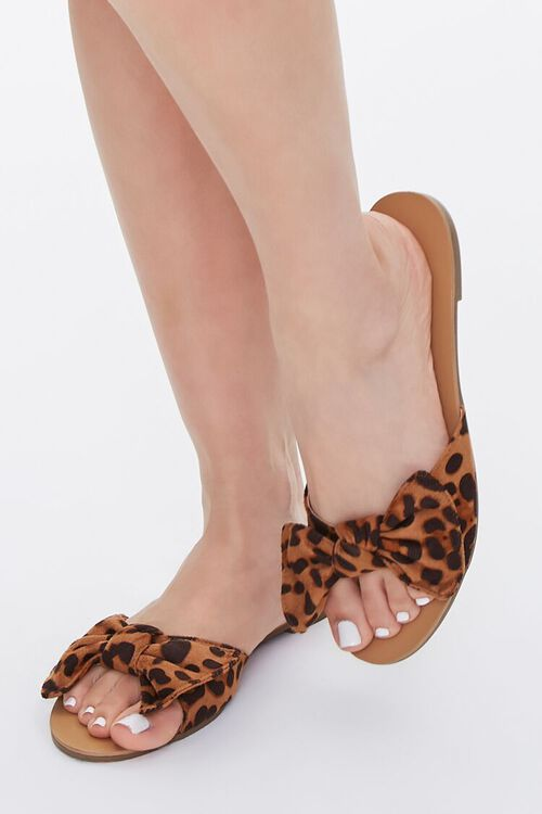 Knotted Leopard Print Sandals, image 1