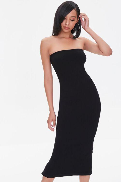 Seamless Strapless Bodycon Midi Dress, image 1