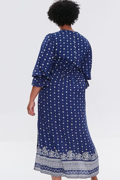 NAVY Plus Size Ornate Print Midi Dress, image 3