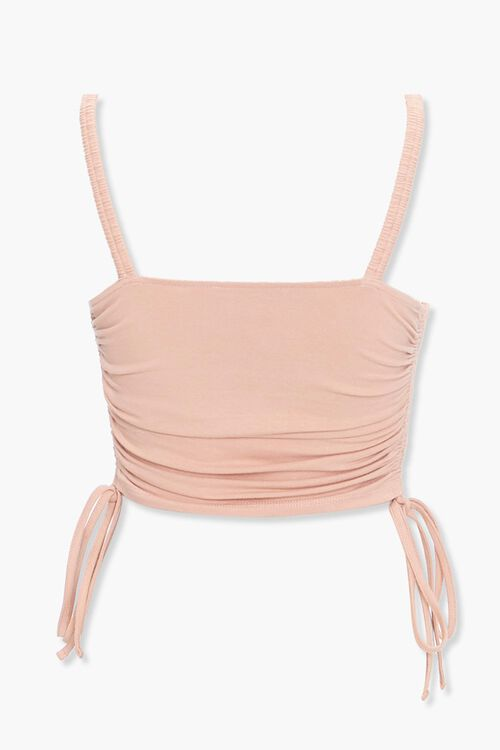 Self-Tie Bustier Cropped Cami, image 2