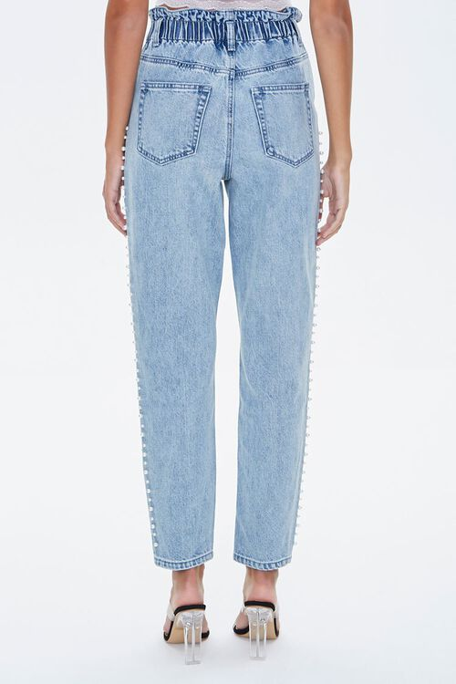 Faux Pearl Paperbag Jeans, image 4