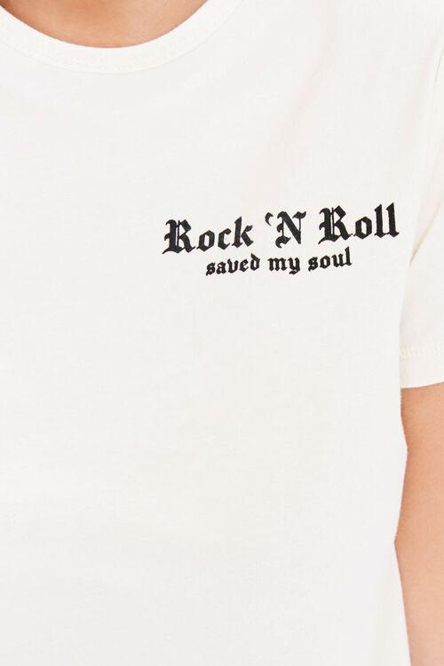 CREAM/BLACK Rock N Roll Saved My Soul Tee, image 5