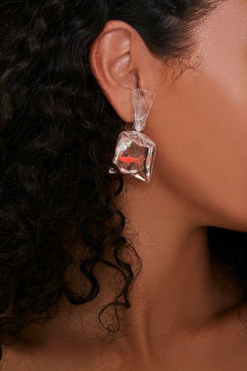Bagged Shark Pendant Earrings, image 1