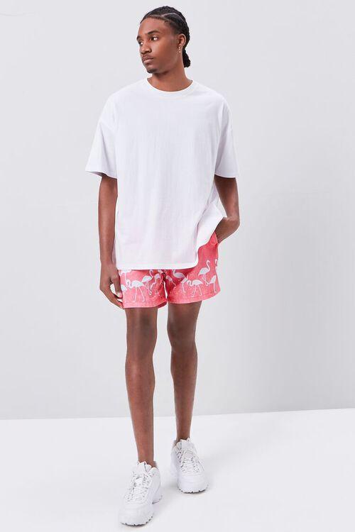 Flamingo Print Swim Trunks, image 5