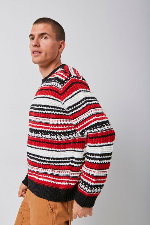 Striped Knit Crew Neck Sweater, image 3