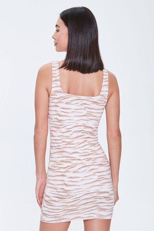 Tiger-Striped Mini Bodycon Dress, image 3