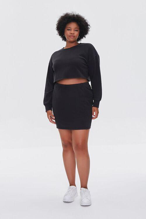 Plus Size Crop Top & Skirt Set, image 5
