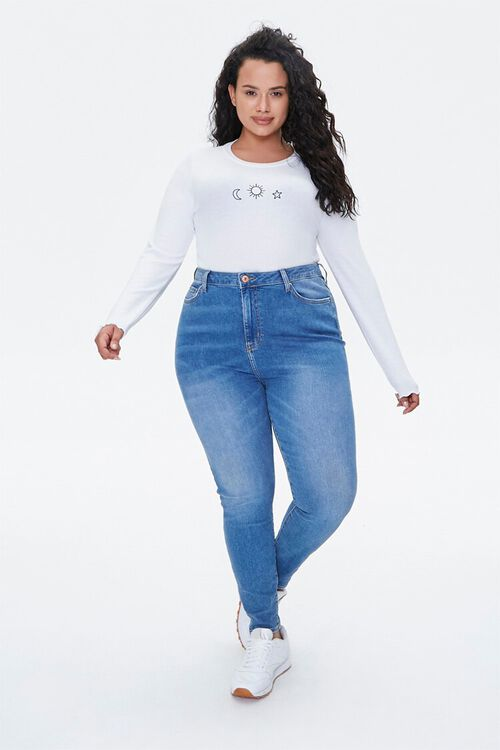 Plus Size Celestial Embroidered Graphic Tee, image 5