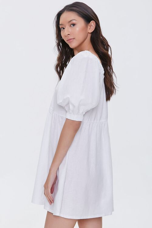 Linen-Blend Mini Dress, image 2