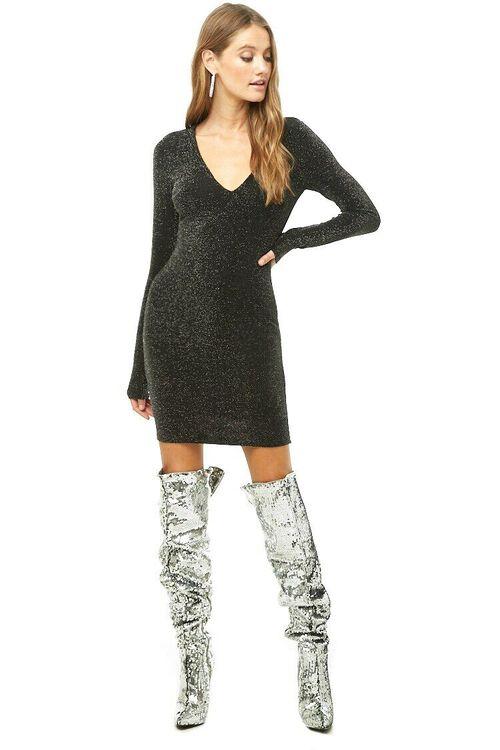 Metallic Knit Dress, image 4