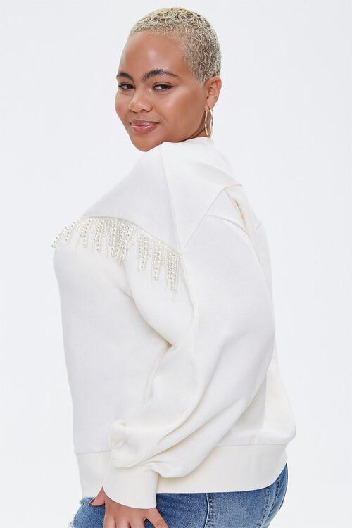 Plus Size Faux Pearl-Trim Sweater, image 2