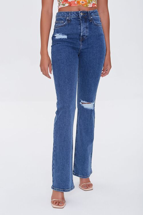 Distressed Flare Jeans, image 2