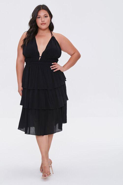 Plus Size Tiered Halter Dress, image 4