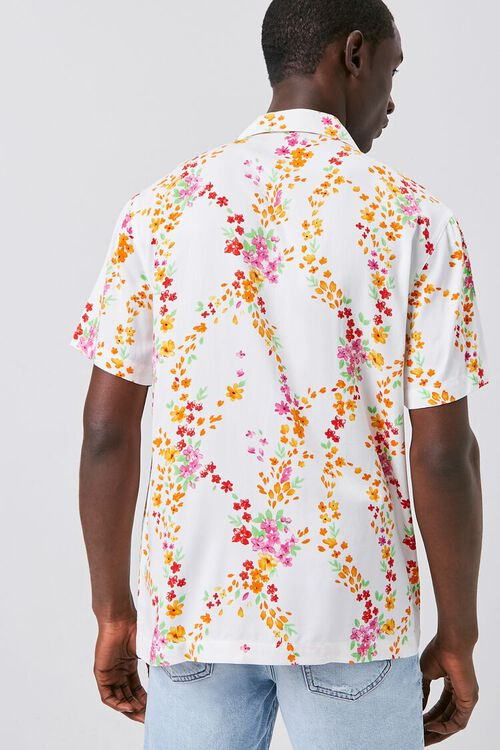 Floral Print Fitted Shirt, image 3