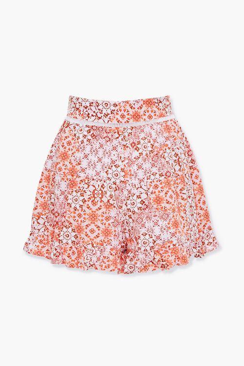 Floral Print Flounce-Hem Shorts, image 3