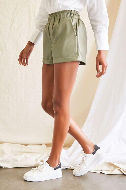 OLIVE Coated Cuffed Shorts, image 3