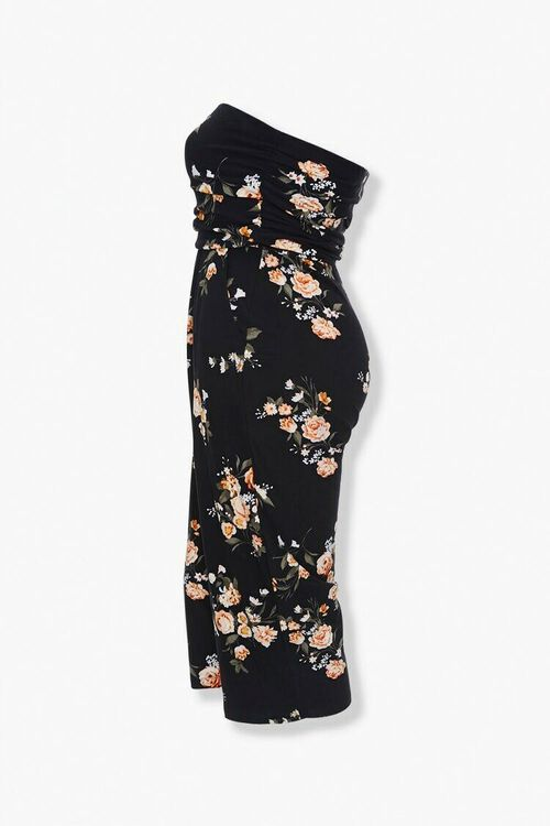 Plus Size Floral Tube Jumpsuit, image 2