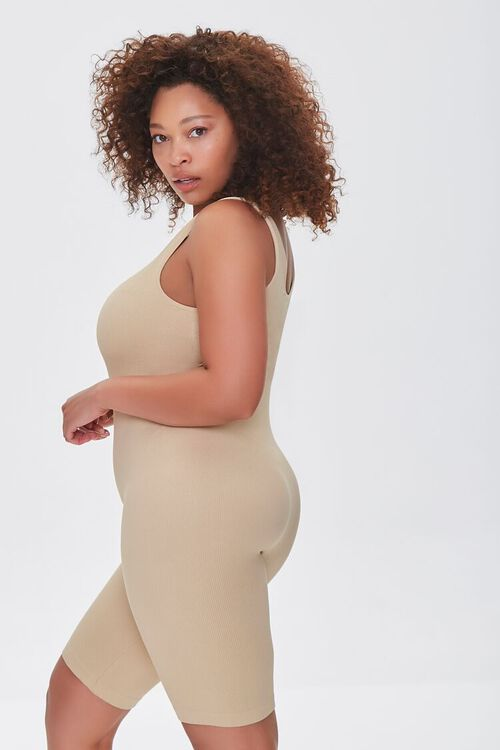 Plus Size Sleeveless Fitted Romper, image 2