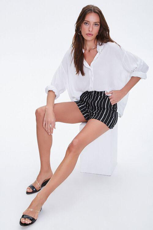 Pinstriped Cuff-Hem Shorts, image 4