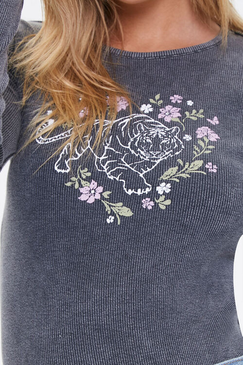 Floral Tiger Graphic Top, image 5