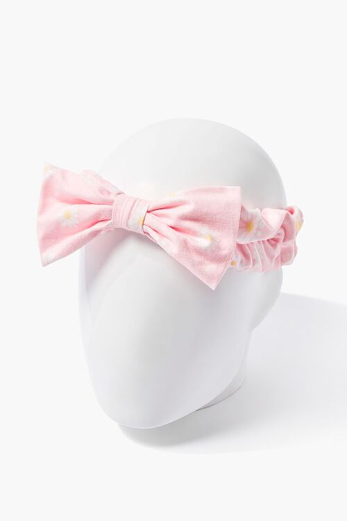 PINK/MULTI Daisy Print Bow Headwrap, image 1