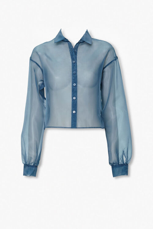 Sheer Organza Shirt, image 1