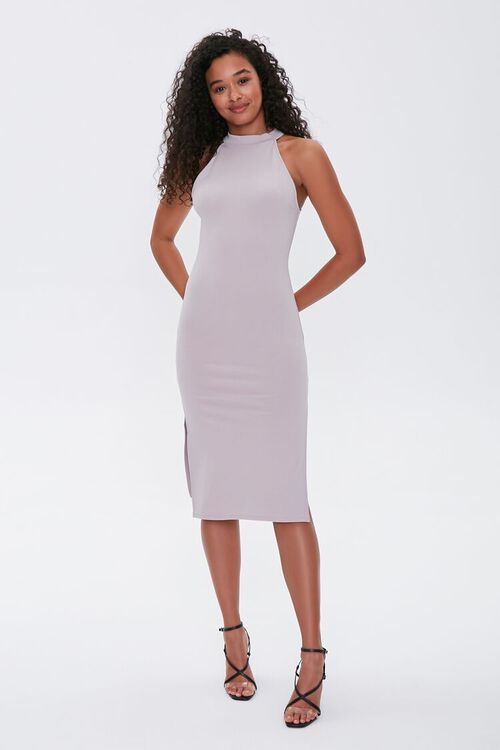 TAUPE High-Neck Bodycon Dress, image 4