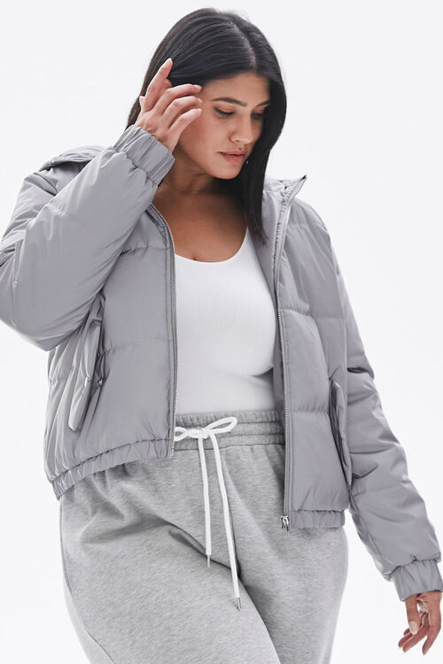 Plus Size Reflective Zip-Up Windbreaker, image 5