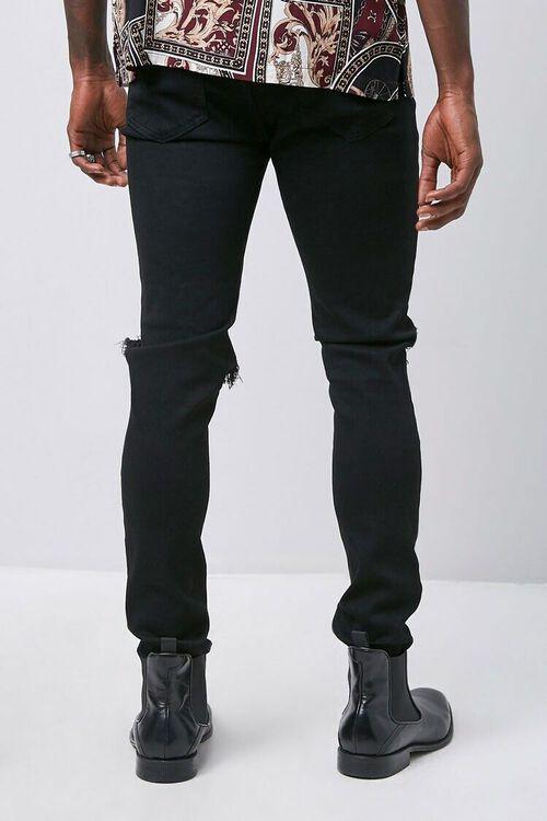 BLACK/SILVER Rhinestone Distressed Slim-Fit Jeans, image 3