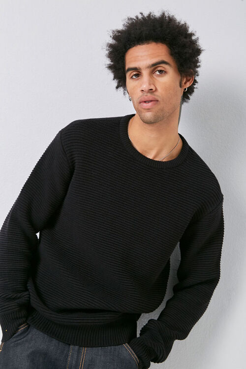 Ribbed Long Sleeve Sweater, image 1