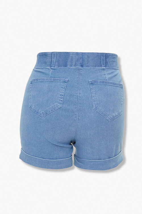 Plus Size Cuffed Denim Shorts, image 3