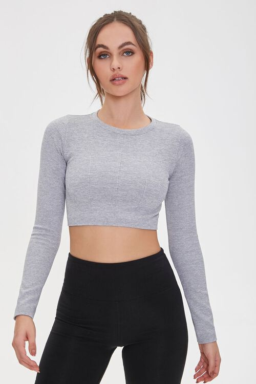 Active Seamless Heathered Top, image 1