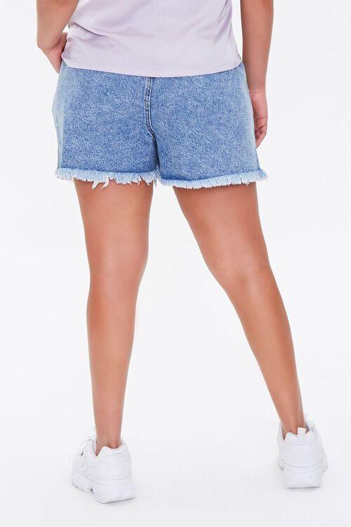 Plus Size Denim Paperbag Shorts, image 4