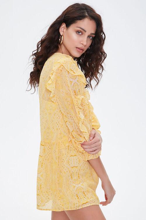 Paisley Ruffled Mini Dress, image 2